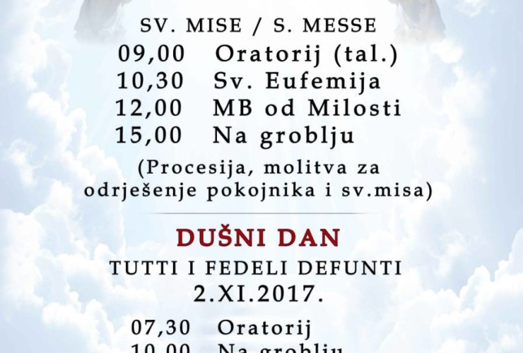 Svi sveti i Dušni dan 2017.